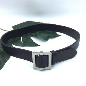 Club Monaco | Italian Black Leather Belt Small